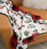 Little Unicorn Cotton Muslin Quilt - Holiday Haul
