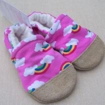 Organic Cotton Slippers Pink Rainbow