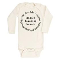 Mama's Favorite Human- Long Sleeve Onesie