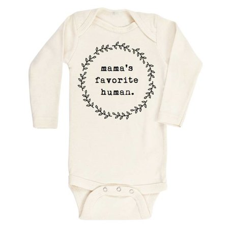 Tenth & Pine Mama's Favorite Human- Long Sleeve Onesie