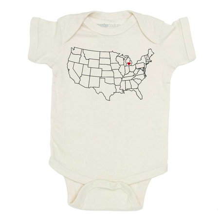 Counter Couture Michigan Love Onesie- Natural