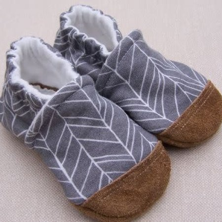 Snow & Arrow Organic Cotton Slippers Feather