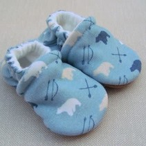 Organic Cotton Slippers Bear and Arrow