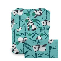 Thirsties Snap Natural One Size All In One Pandamonium
