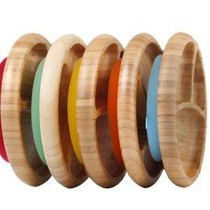 Bamboo & Silicone Baby Suction Plate & Spoon
