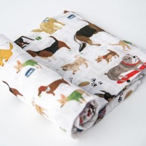 Cotton Muslin Swaddle: Woof