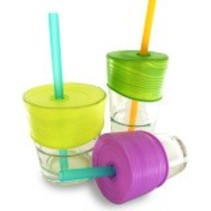 Universal Silicone Straw Tops (Lime/Green/Purple)