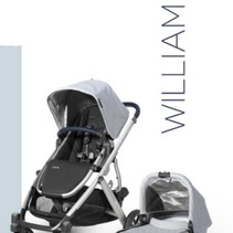 UPPAbaby VISTA Stroller 2019 - WILLIAM (chambray oxford/silver/navy leather)