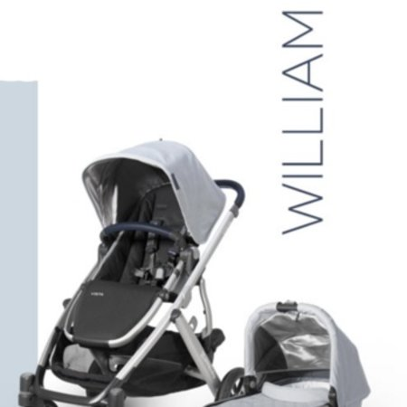 UPPAbaby UPPAbaby VISTA Stroller 2019 - WILLIAM (chambray oxford/silver/navy leather)