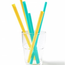 Silicone Straws- 6 pack of 3