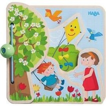 Seasons: Wood Baby Book