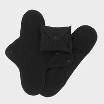 Organic Sanitary Pads: Black 3Pk