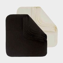 Organic Washable Wipes (12 pack in black)