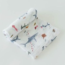 Cotton Muslin Swaddle: Shark