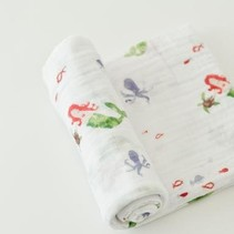 Cotton Muslin Swaddle: Mermaid