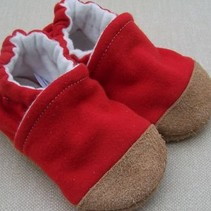 Organic Cotton Slippers Cherry Red