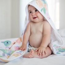 Copper Pearl Muslin Hooded Towel