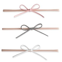 Suede Cord Bow 3pk