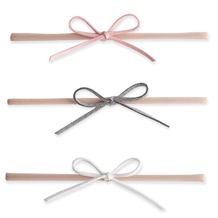 Baby Bling Suede Cord Bow 3pk