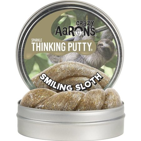 Crazy Aaron Crazy Aaron's Sparkle Thinking Putty Smiling Sloth 4""