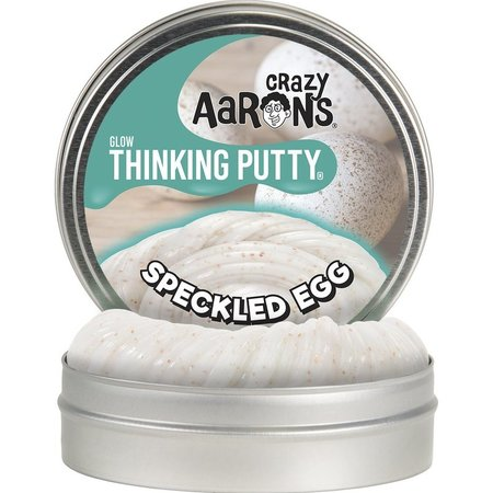 """Crazy Aaron Crazy Aaron's Glow Thinking Putty Speckled Egg 4"""""""