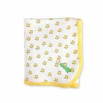 Organic Cotton Little Prince Yellow Stars Swaddle Blanket