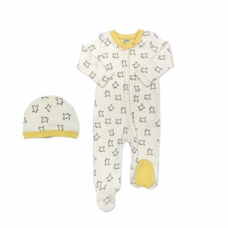 Finn + Emma Organic Cotton Little Prince Estrellas Footie & Hat