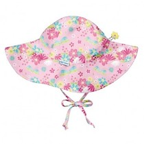 Light Pink Dragonfly Floral Brim Sun Protection Hat