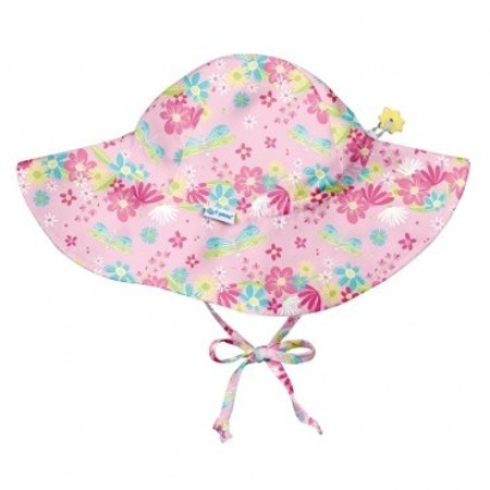 I play Light Pink Dragonfly Floral Brim Sun Protection Hat by i play