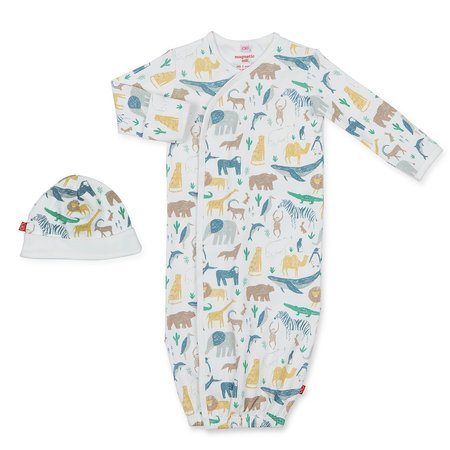 Magnetic Me Serengeti Model Magnetic Gown & Hat Set (NB-3m)