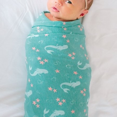 Copper Pearl Swaddle Blanket- Coral
