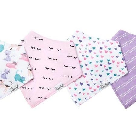 Copper Pearl Copper Pearl Baby Bandana Bib Set (2-pack) Sassy (Hearts/Purple)