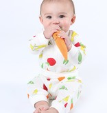 Under the Nile Fruit and Veggie Muslin Side Snap Top and Rolled Waist Pant Set