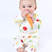 Fruit and Veggies Muslin Side Snap Top and Rolled Waist Pant Set