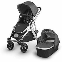 UPPAbaby VISTA Stroller- JORDAN (charcoal mélange/silver/black leather)