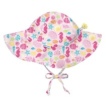 Pink Sealife Brim Sun Protection Hat