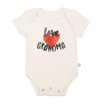 """Love Grandma"" Organic Graphic Body Suit"
