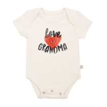 """Love Grandma"" Organic Graphic Body Suit"