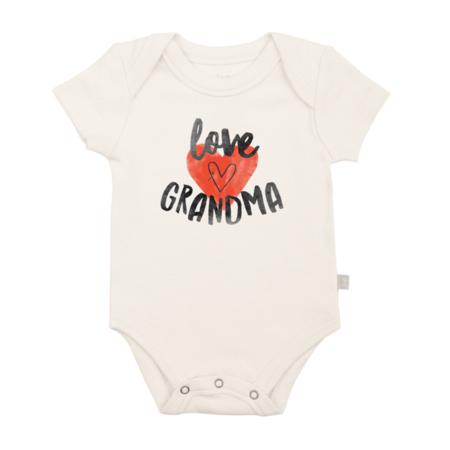 "Finn + Emma ""Love Grandma"" Organic Graphic Body Suit"