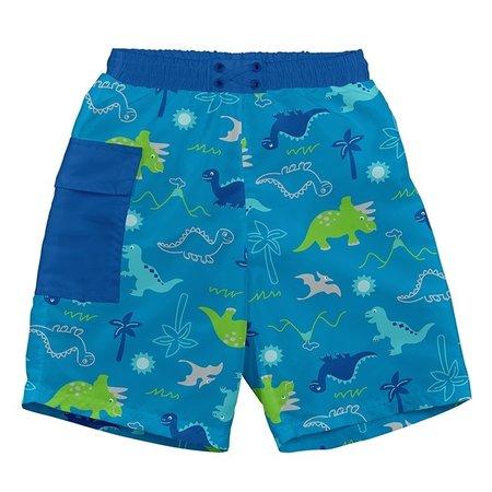 iplay Aqua Dinosaurs Pocket Trunks w/Reusable Swim Diaper by i play