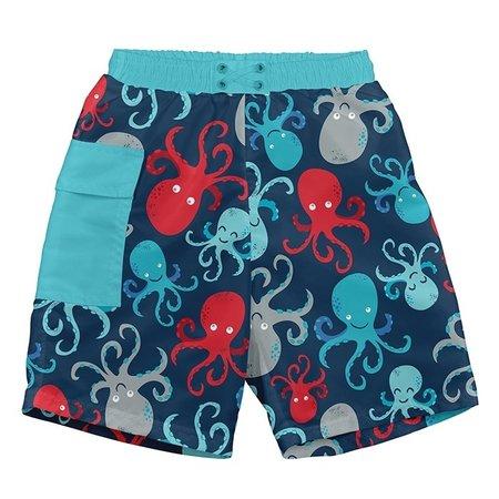 I play Navy Octopus Pocket Trunks w/ Reusable Swim Diaper by i play