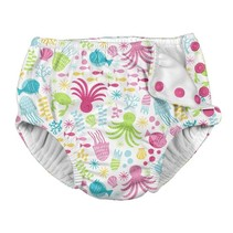 White Sea Pals Snap Reusable Swim Diaper