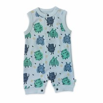 Organic Cotton Monster Tank Romper