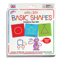 Wikki Sticks Basic Shapes Card Set