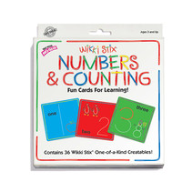 Wikki Sticks Numbers & Counting Card Set