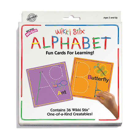 Wikki Stix Wikki Sticks Alphabet Card Set
