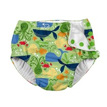 Green Sealife Reusable Swimsuit Diaper