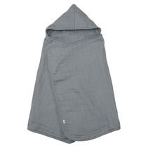 Muslin Organic Cotton Hooded Towel Gray