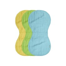 Burp Cloths 3-PK Organic Cotton Muslin