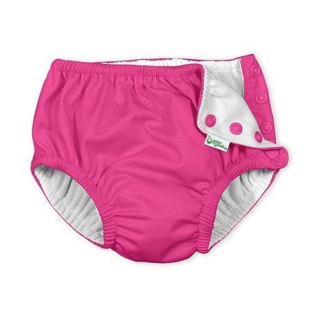 iplay Hot Pink Snap Reusable Swimsuit Diaper